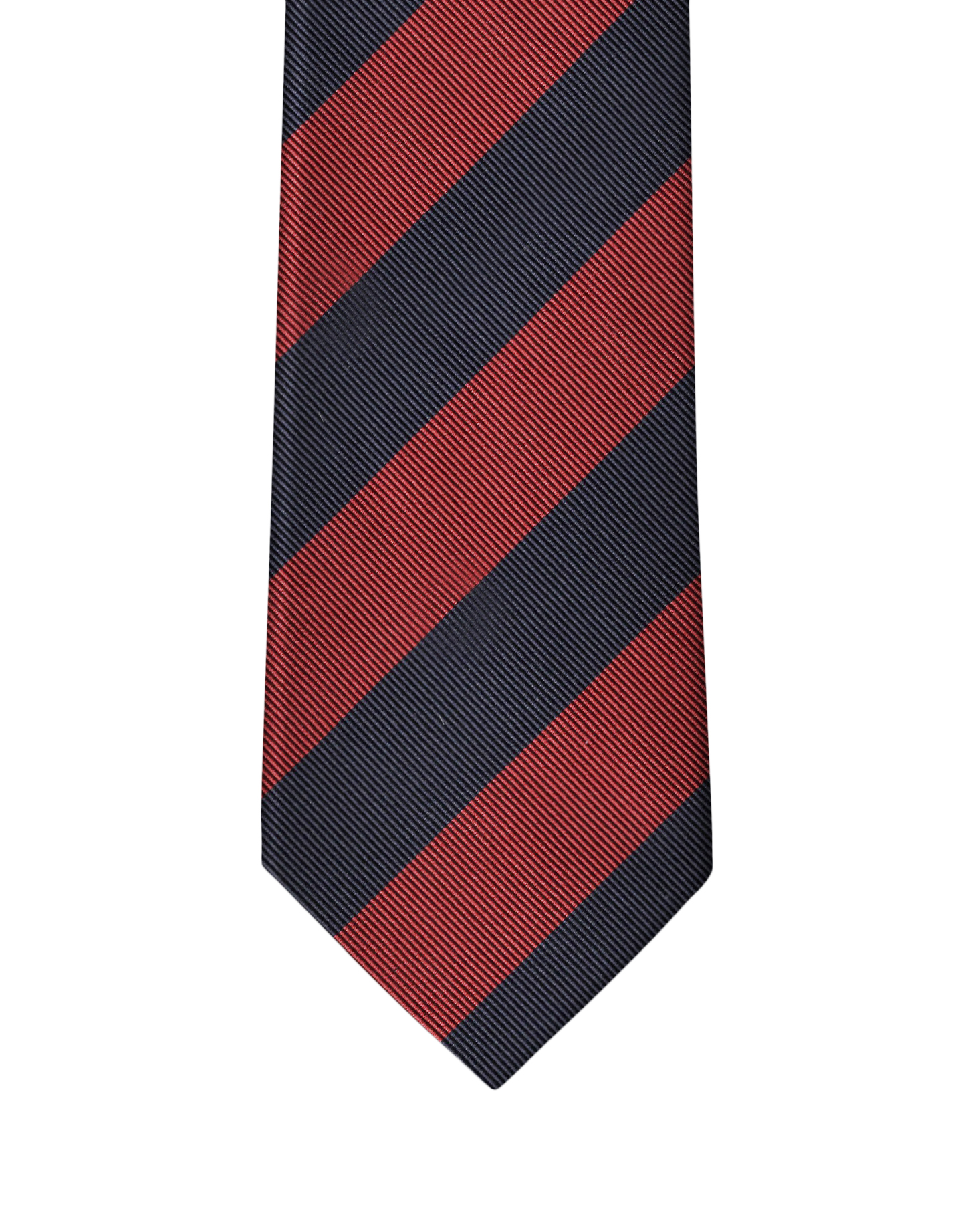 Navy & Wine Two Color Rep Stripe Necktie