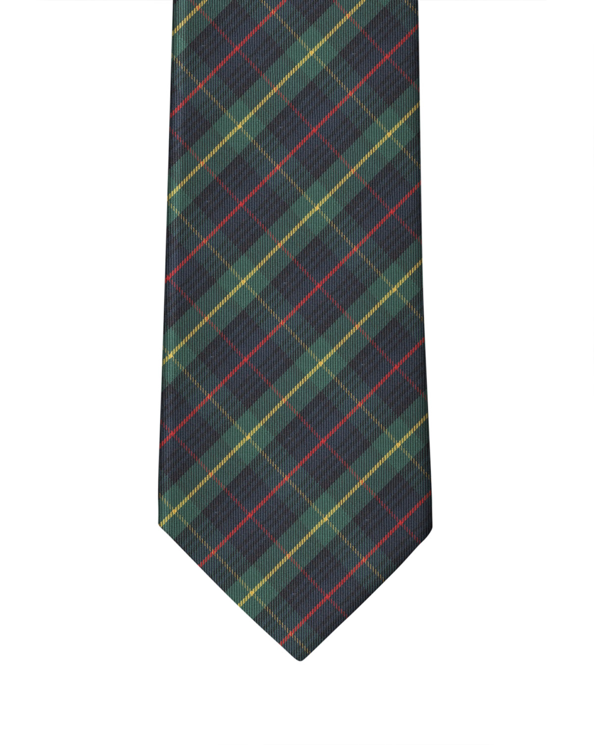 Navy Red Farquarson Plaid Necktie