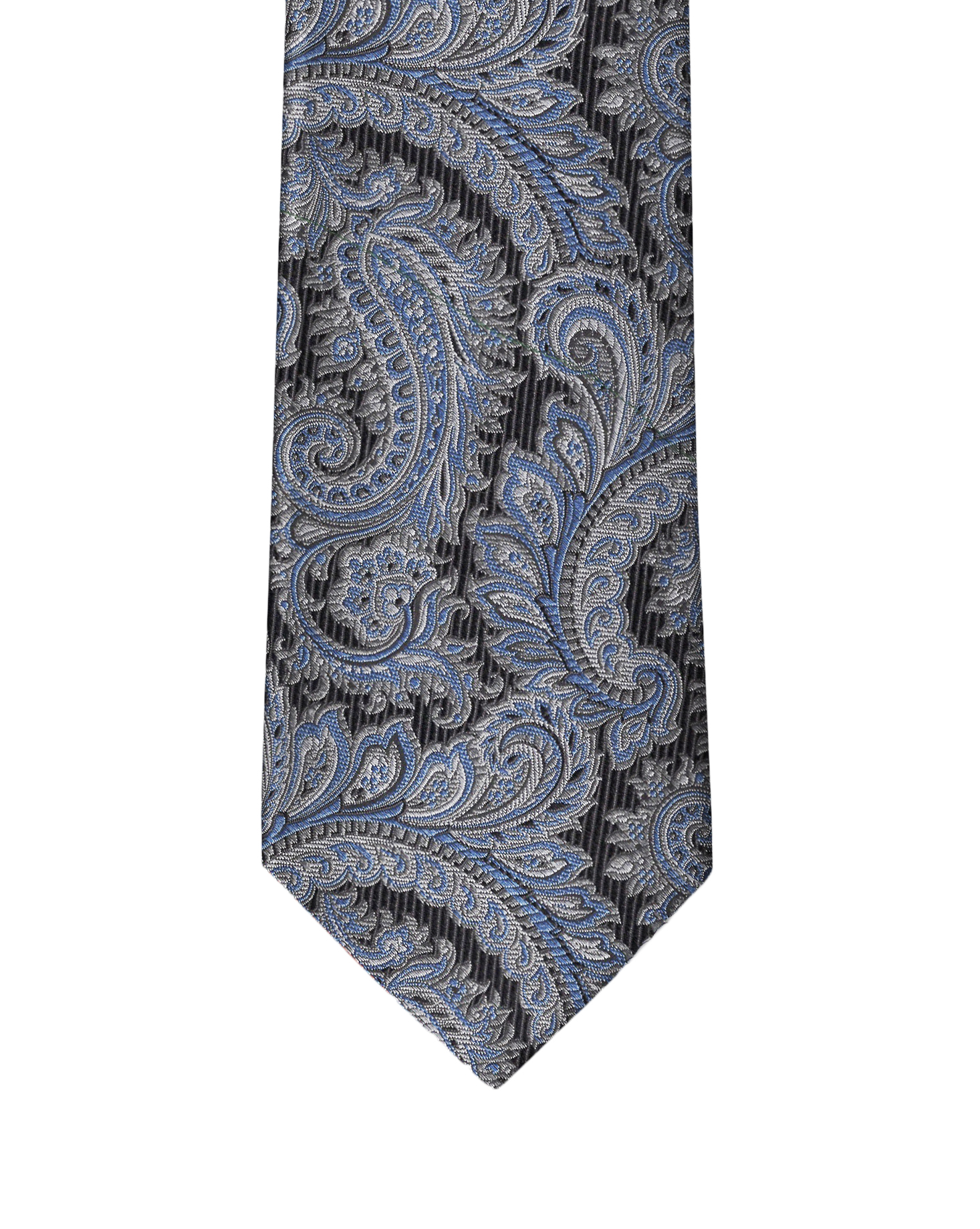 Black & Grey Paisley Necktie