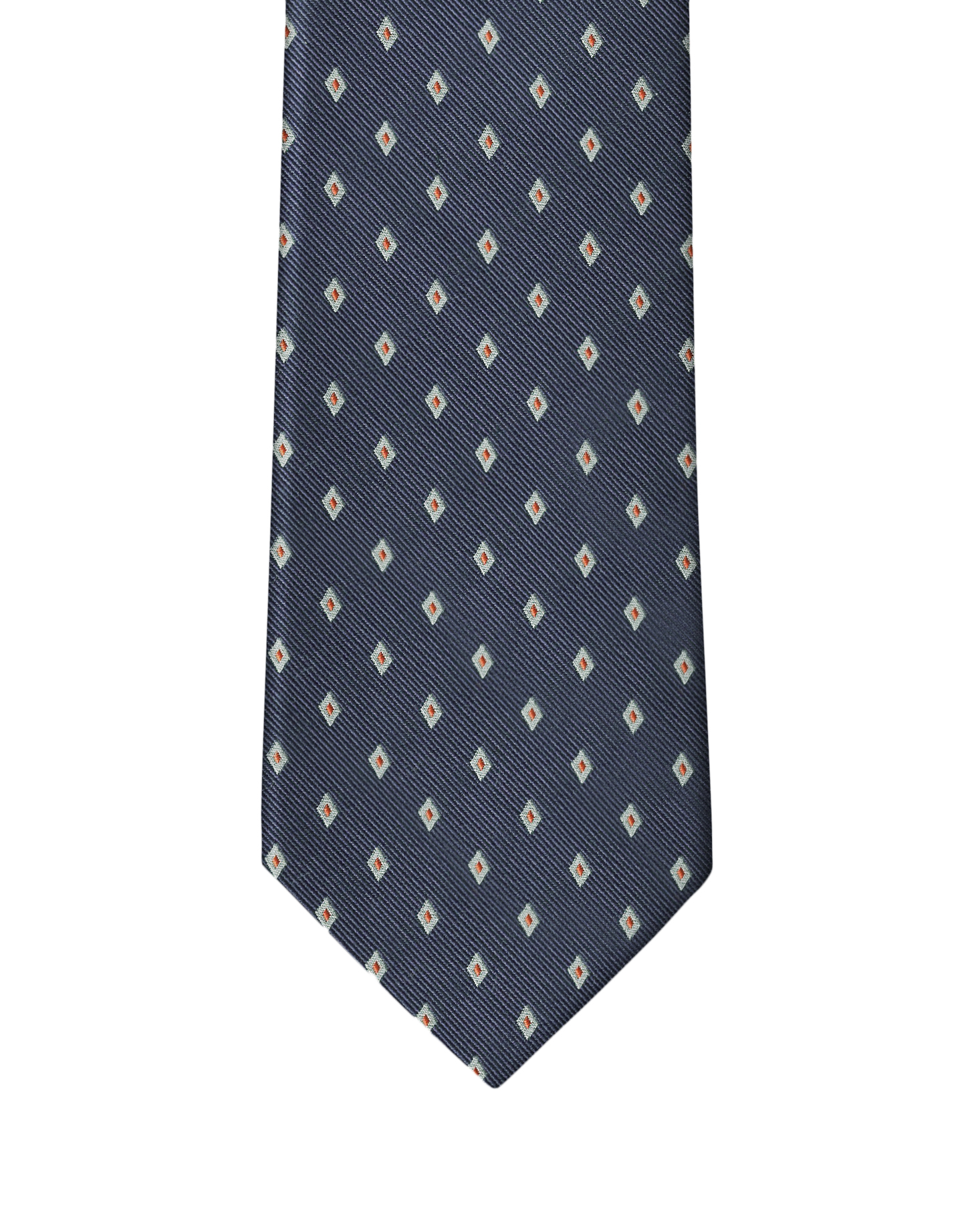 Navy Diamond Neat Necktie