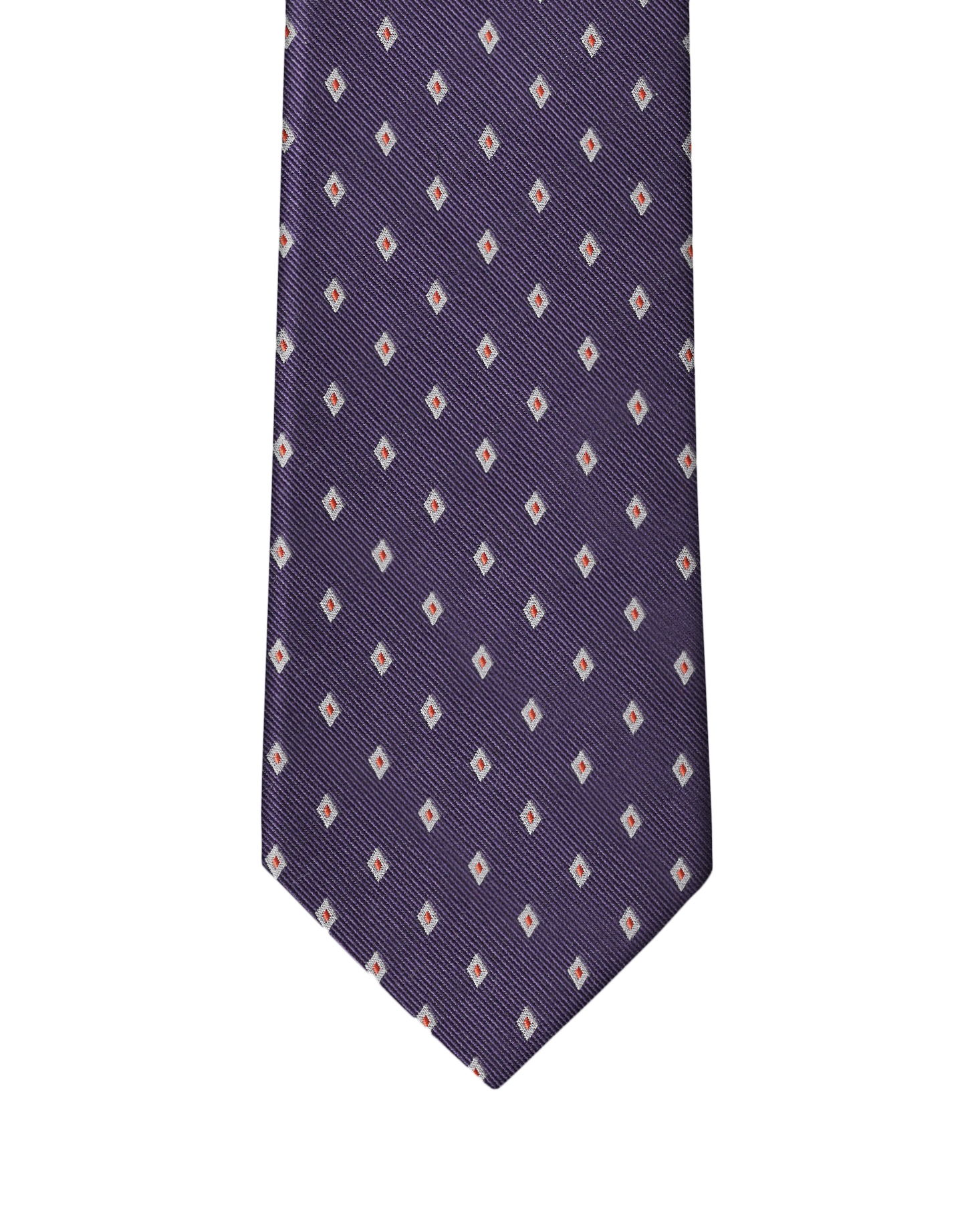 Purple Diamond Neat Necktie