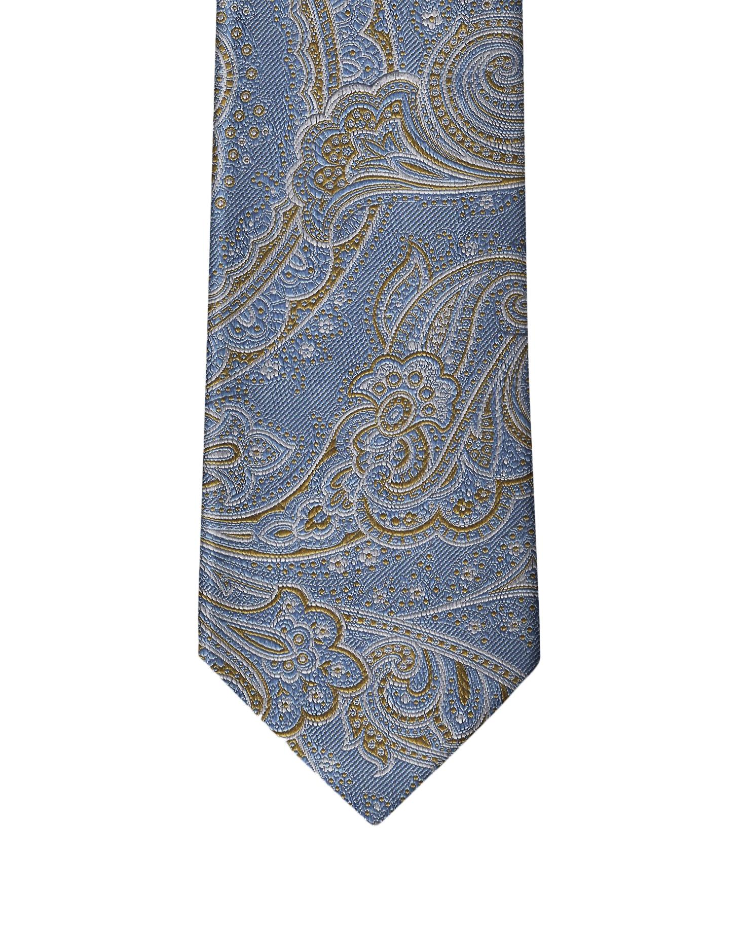 Pastel Sky Blue Paisley Necktie