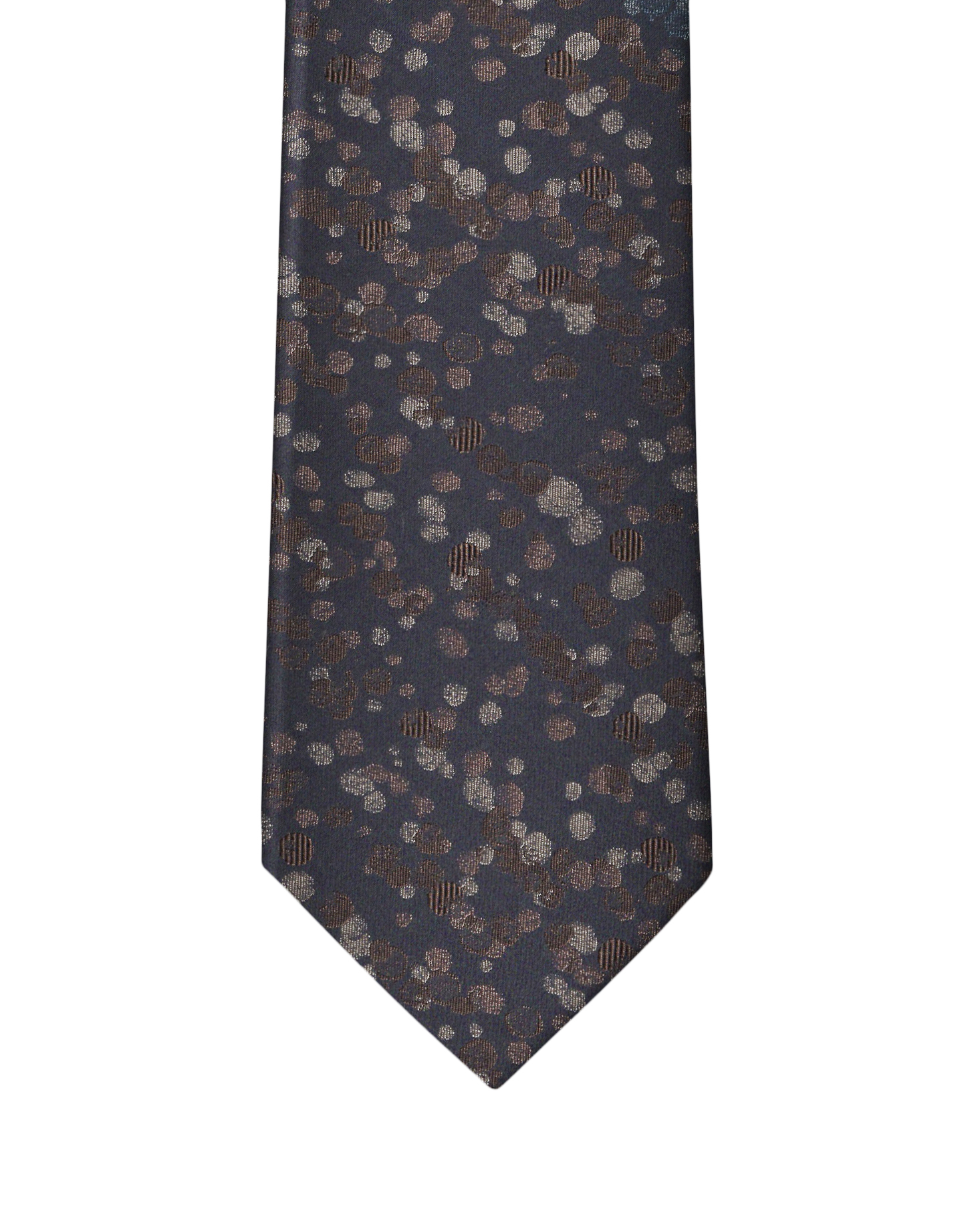 Brown Camel Abstract Dot Necktie