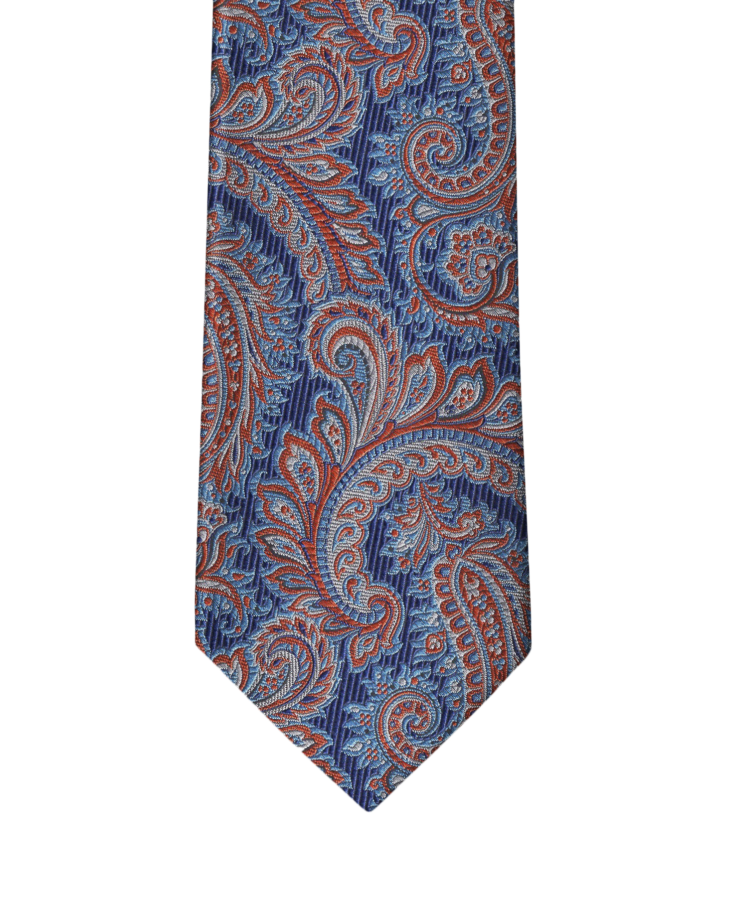 Navy & Orange Paisley Necktie