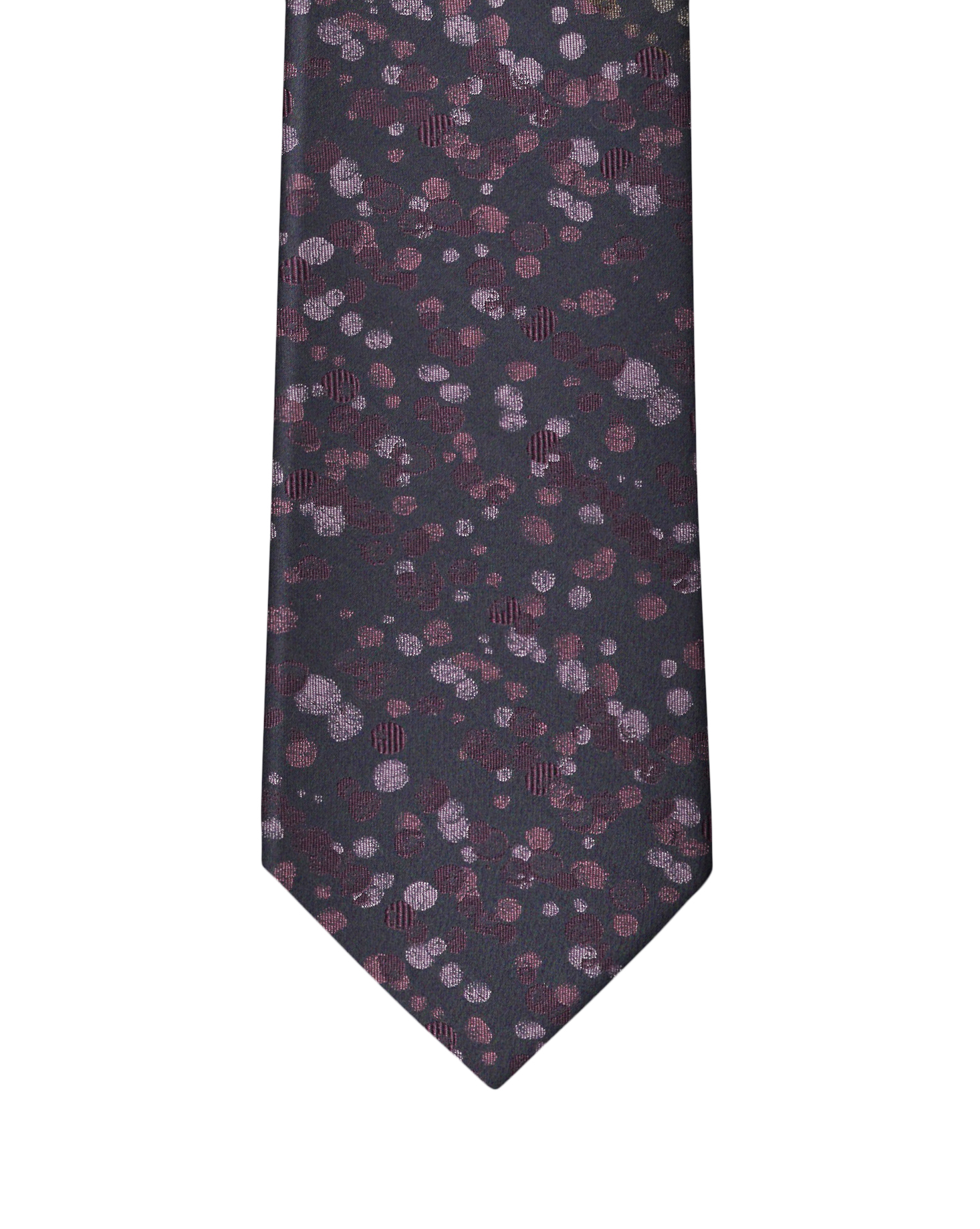 Purple Rose Abstract Dot Necktie