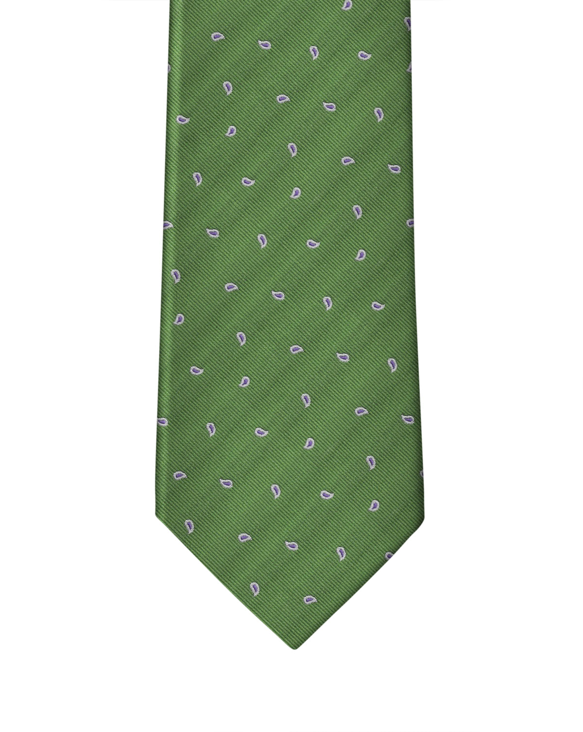 Emerald Green Small Pine Neat Necktie