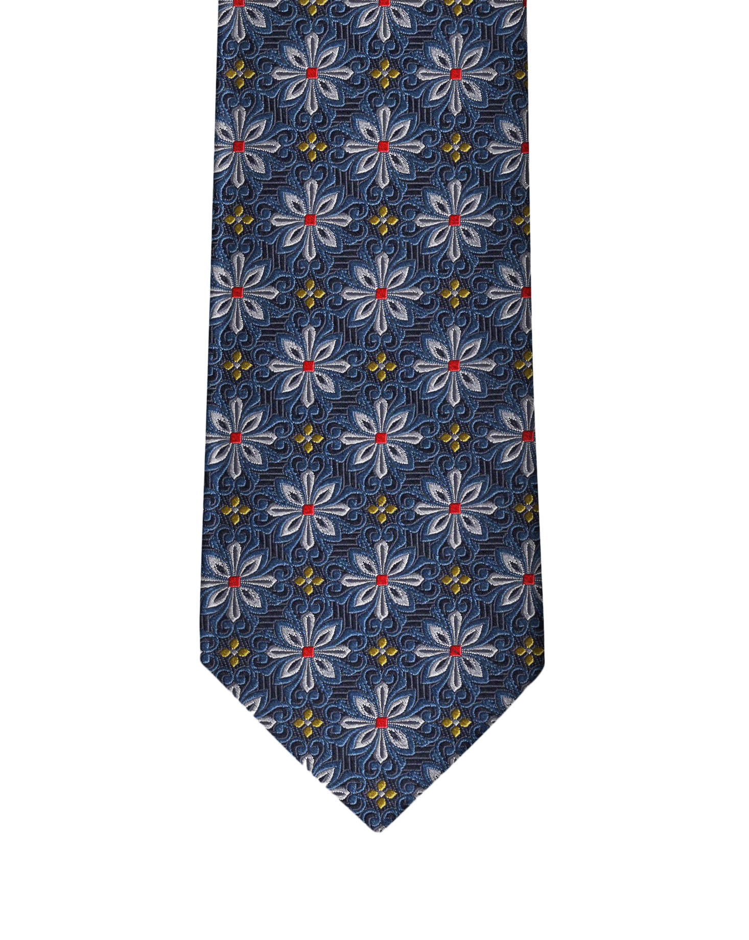 Navy Blue Medallion Necktie