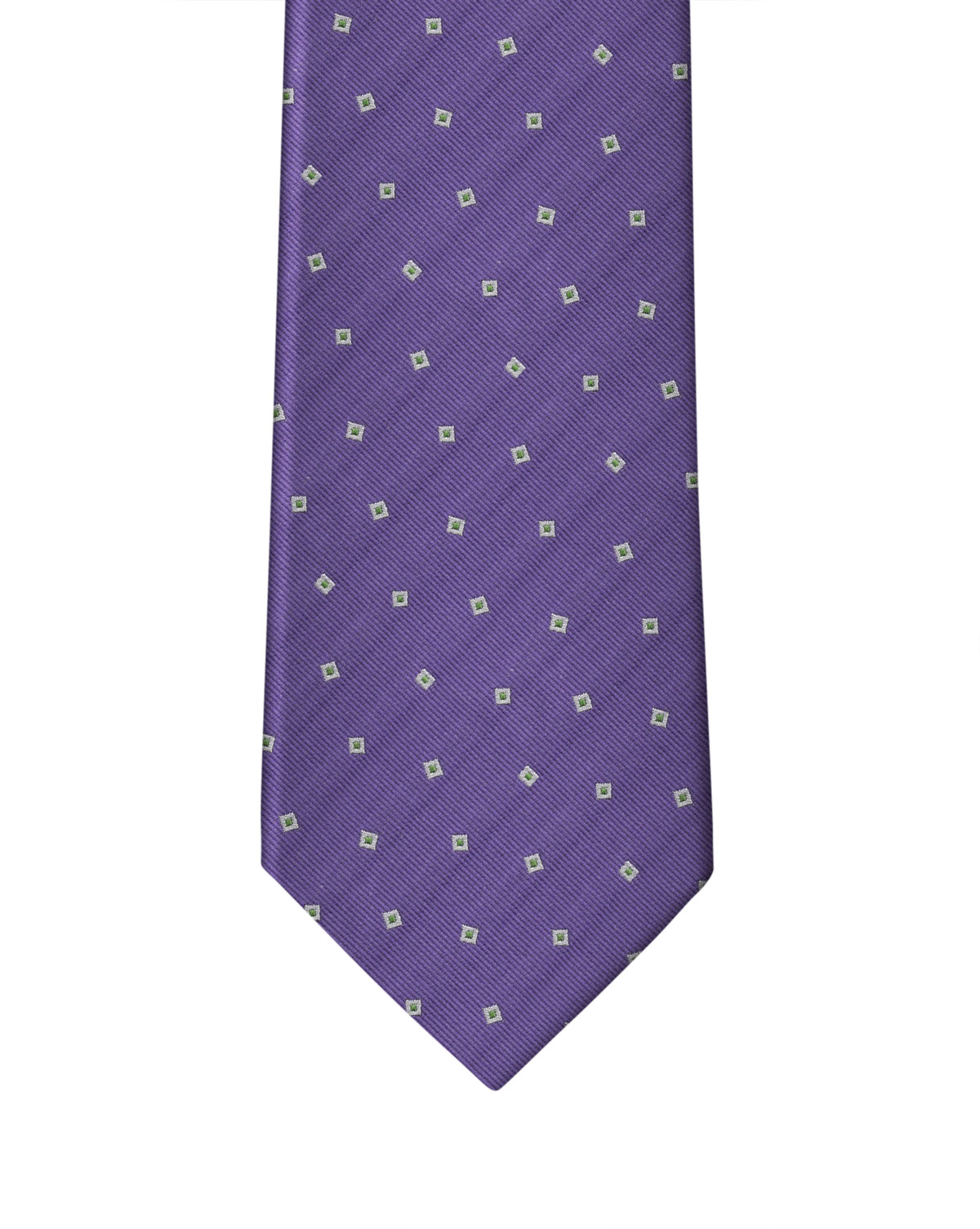 Purple Small Square Neat Necktie