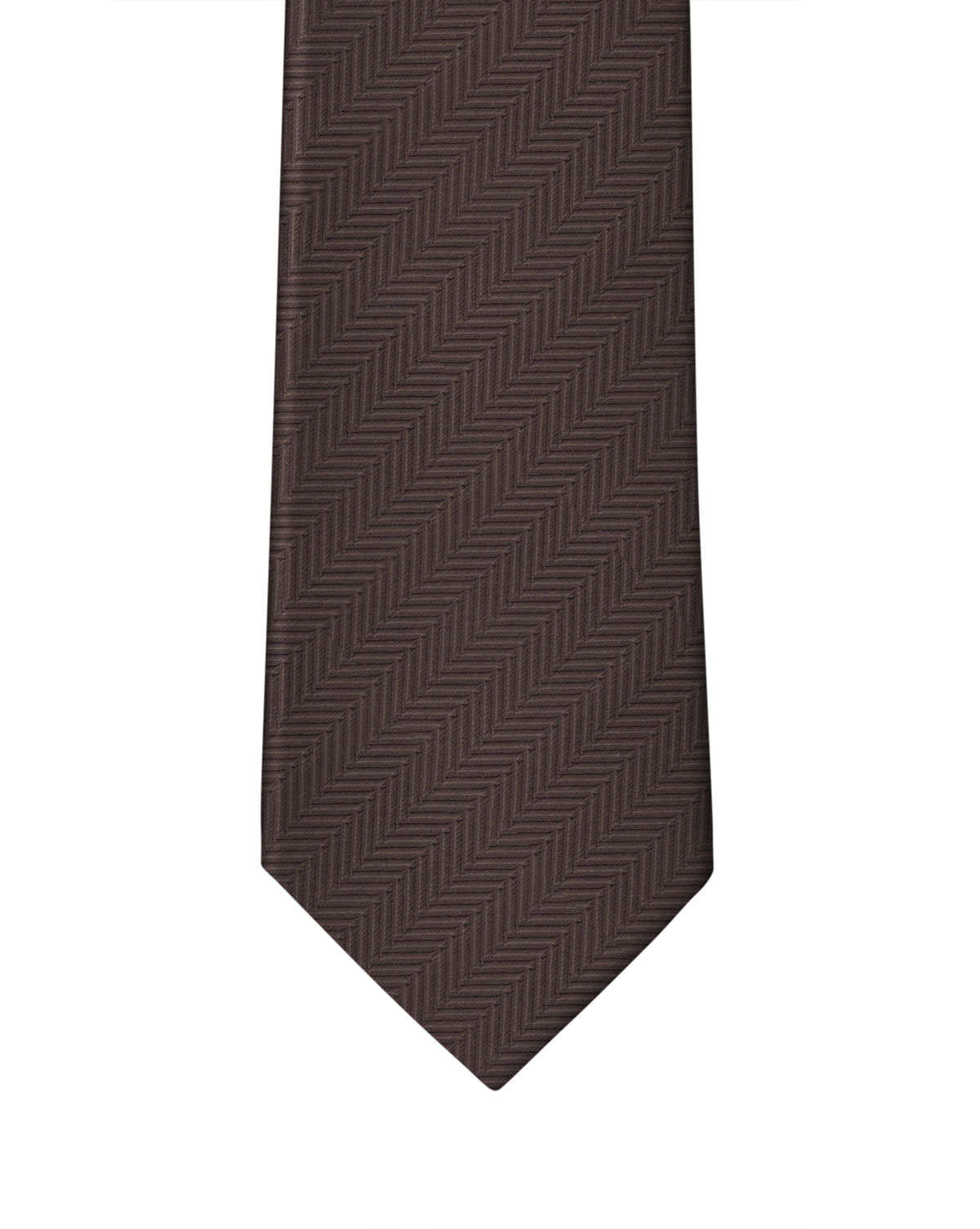 Brown Solid Necktie