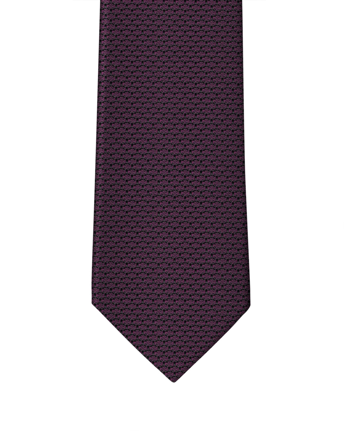 Garnet with Black Grenadine Necktie