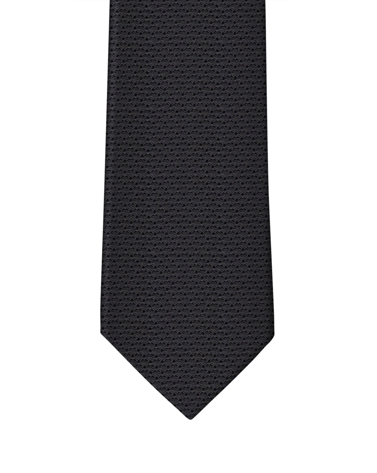 Black Grenadine Necktie