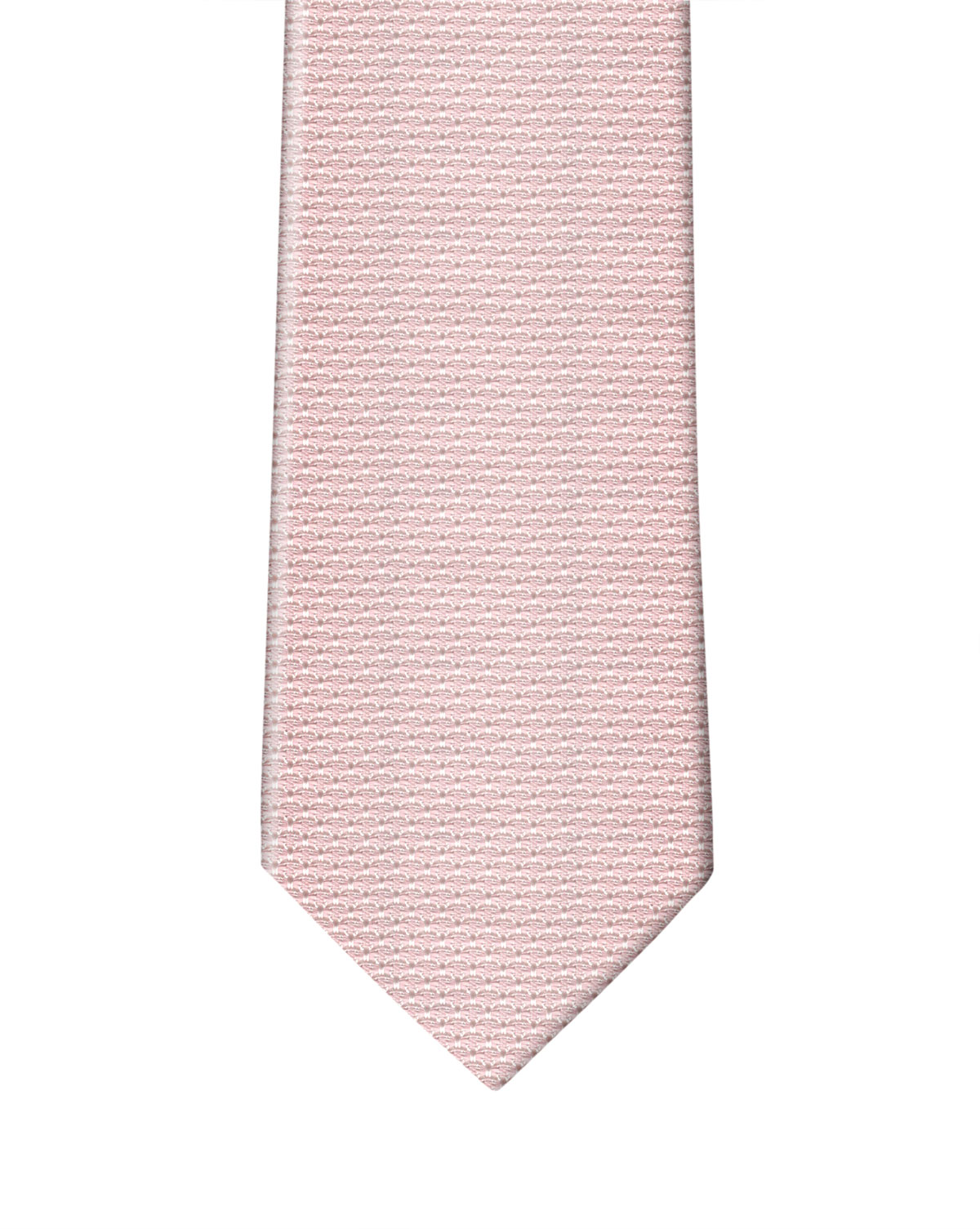Pink with White Grenadine Necktie
