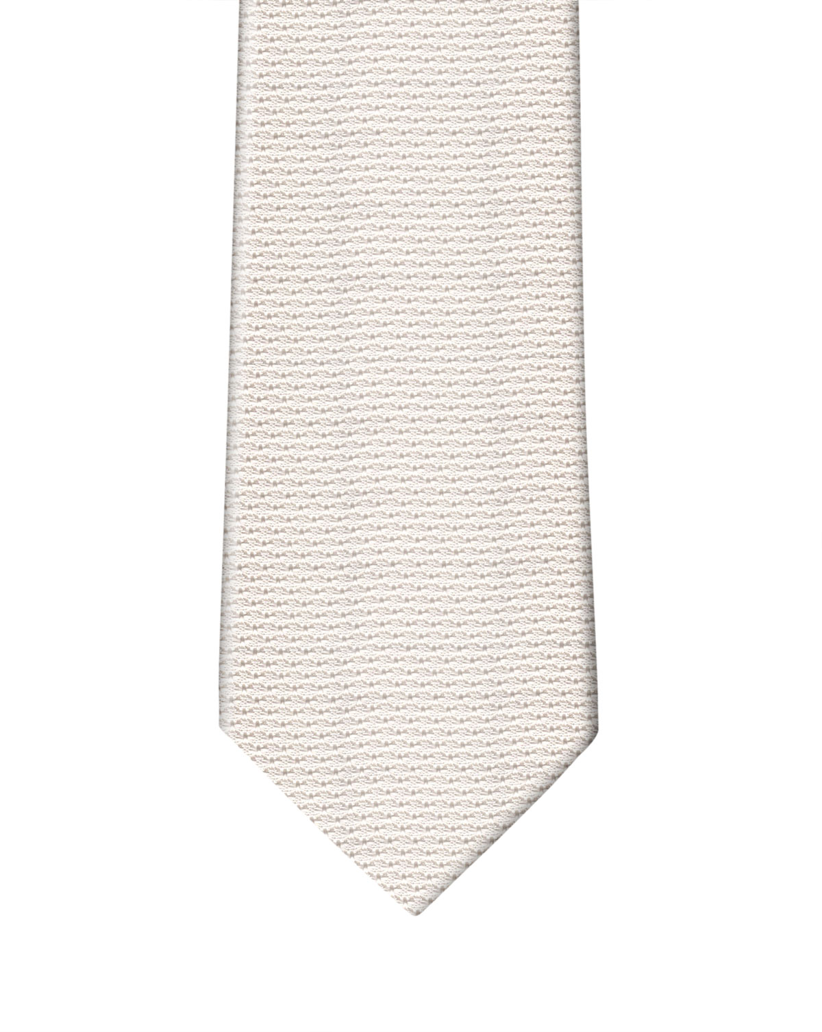 White Grenadine Necktie