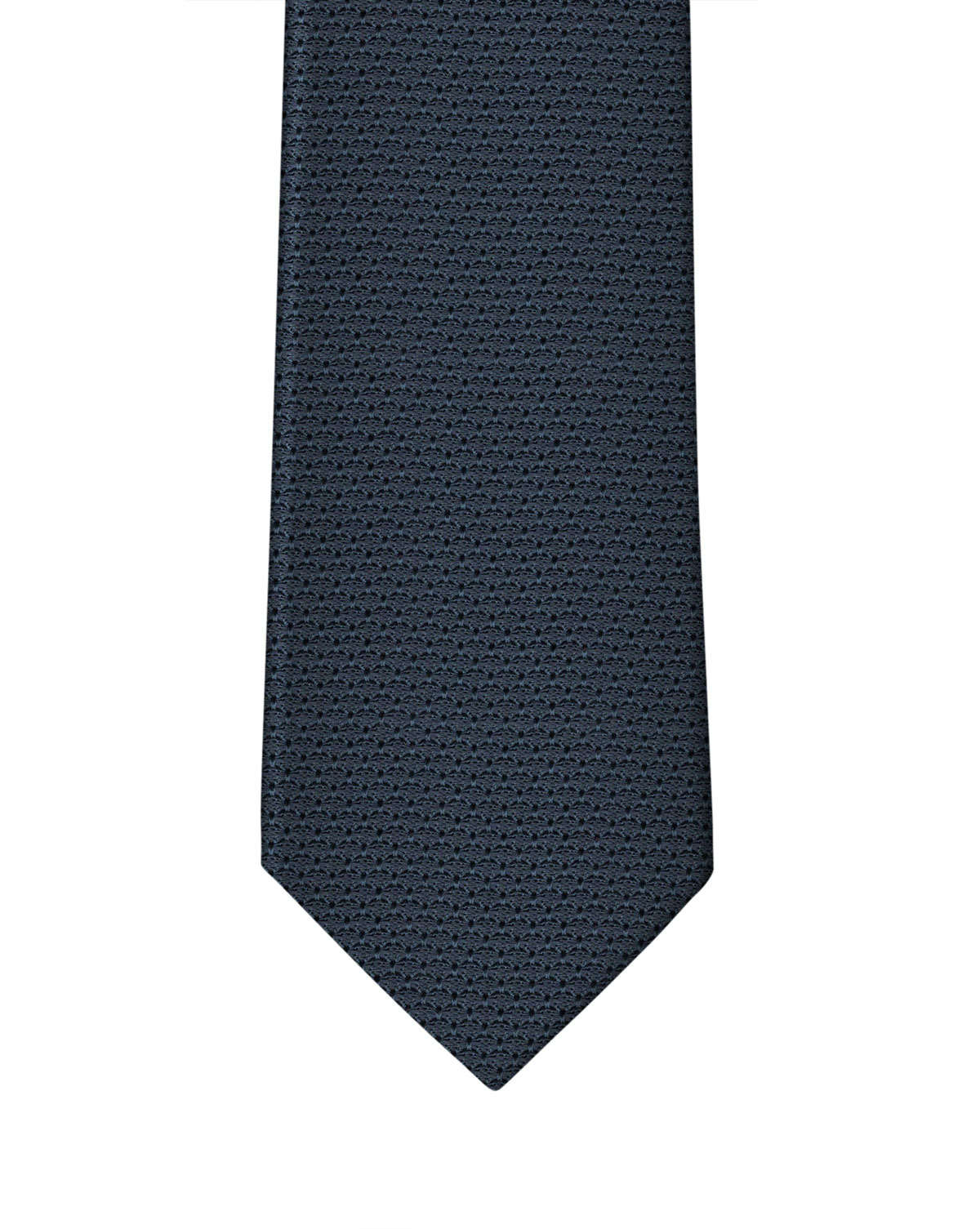 Navy Blue Grenadine Necktie