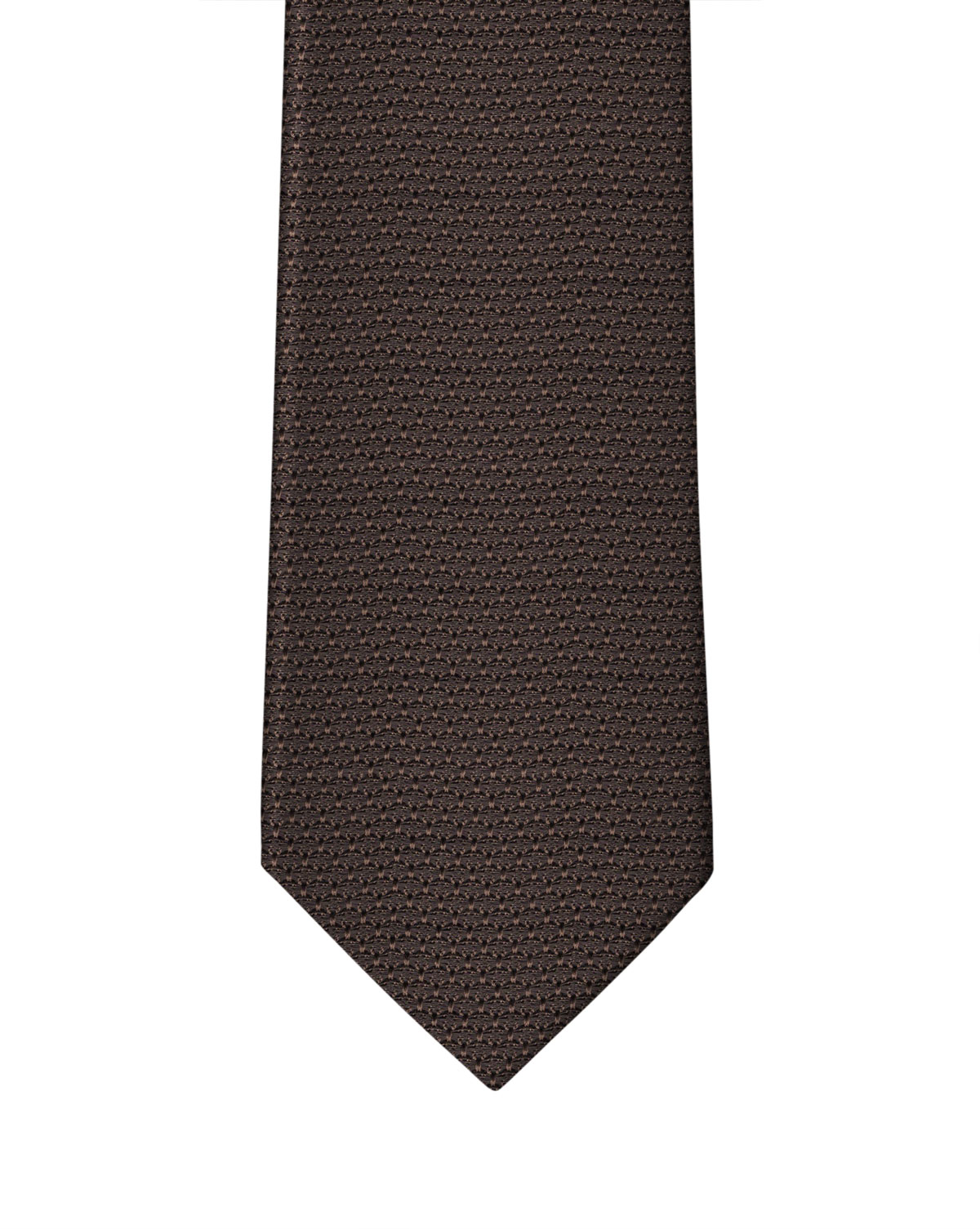 Chocolate Brown Grenadine Necktie