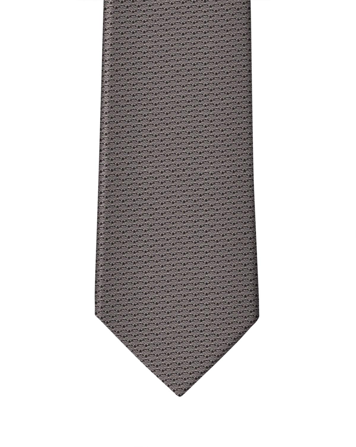 Medium Grey Grenadine Necktie