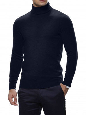 Midnight Cashmere Turtle Neck Sweater