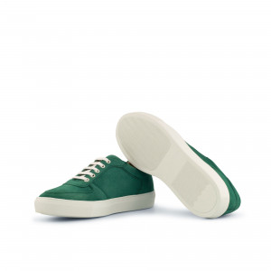 Forest Green Kid Suede Low Top Trainer