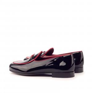 Black Patent Belgian Slipper