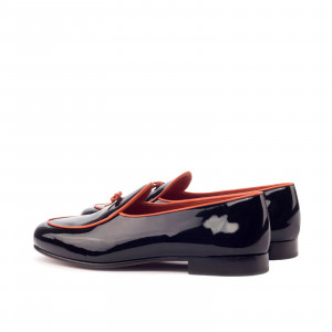 Black Patent Belgian Slipper