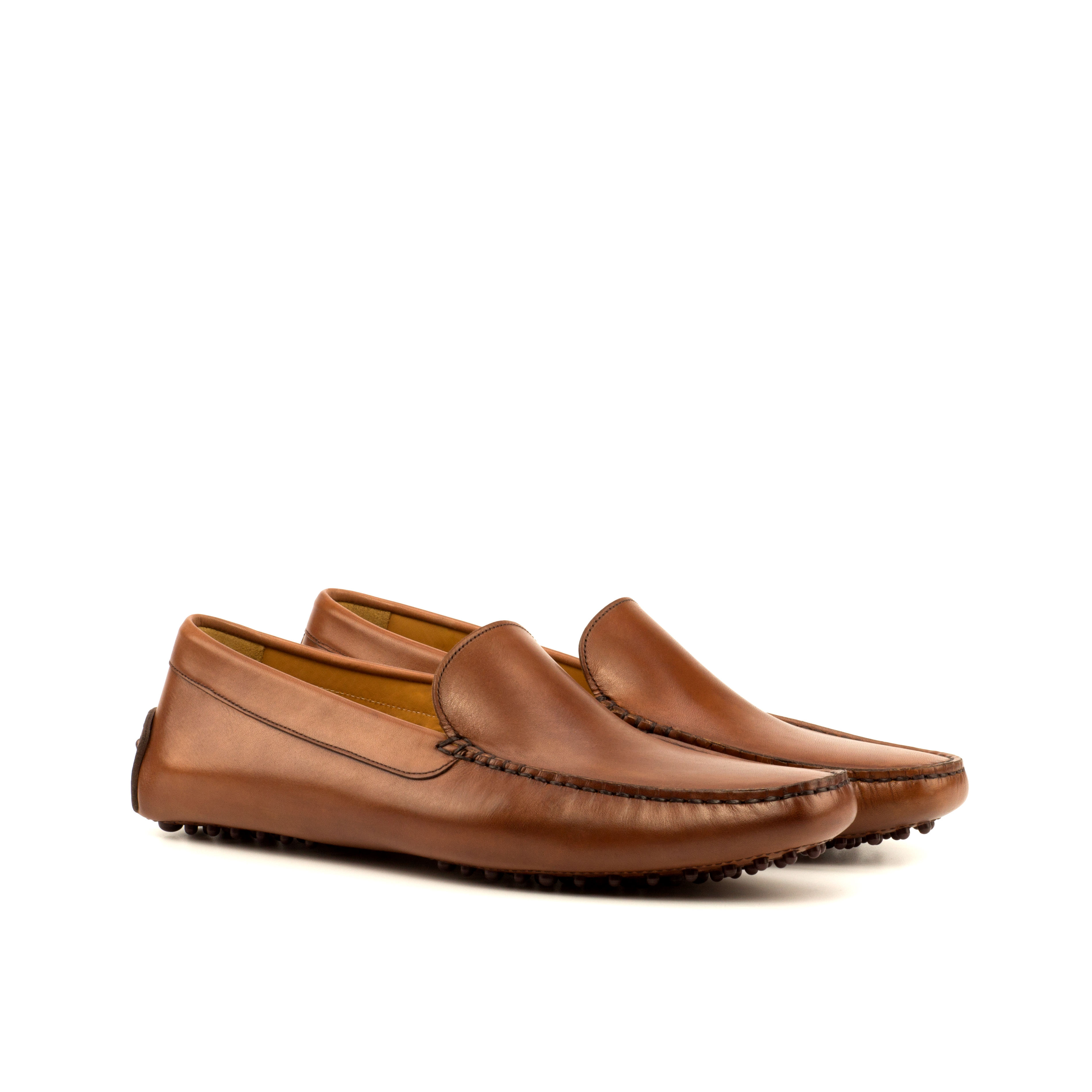Med Brown Painted Calf Driver