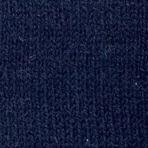 Navy Merino Wool 3-Button Long-Sleeve Polo