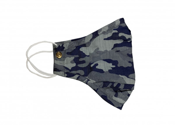 Navy Anti-Microbial Camo Mask