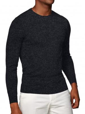 Charcoal Merino Wool Crew Neck Sweater