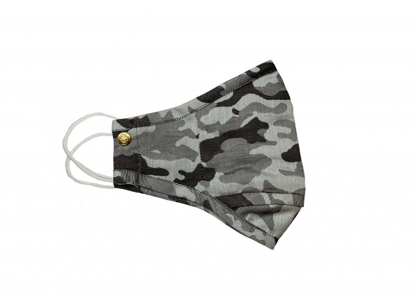 Grey Anti-Microbial Camo Mask