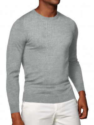 Light Grey Cashmere Crew Neck