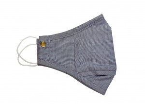 Mid Blue Chambray Cotton Mask