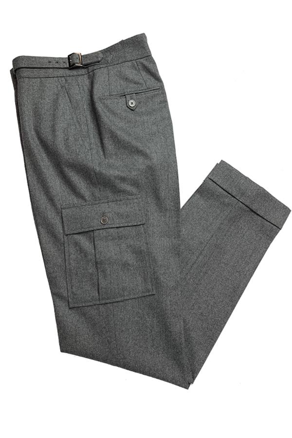 Grey Flannel Cargo Pants