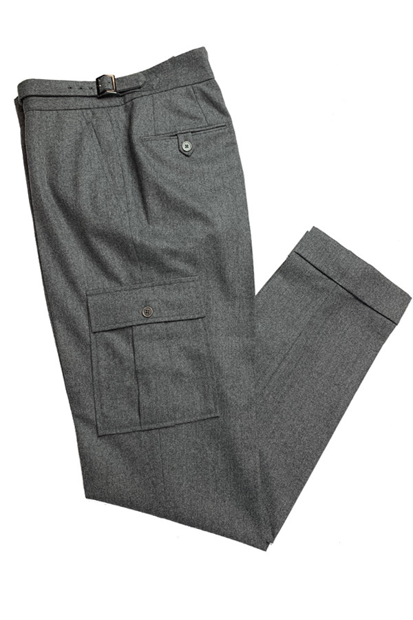 Grey Flannel Cargo Pants