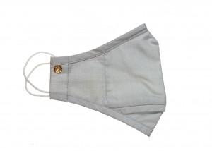 Light Grey Chambray Cotton Mask