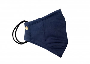 Navy Wool Dress Mask (Large)