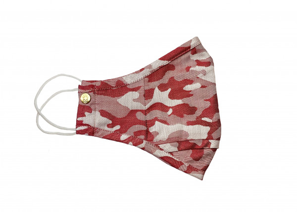 Red Anti-Microbial Camo Mask