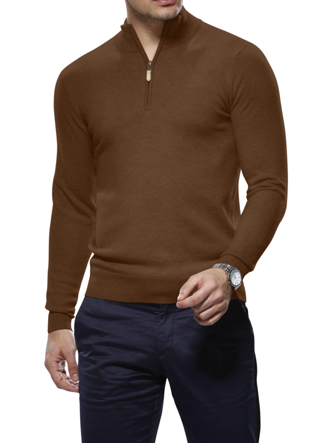 Syrup Merino Wool 1/4 Zip Mock Sweater
