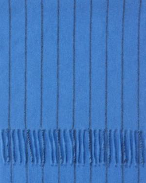 Sapphire Navy Chalk Stripe Cashmere Scarf