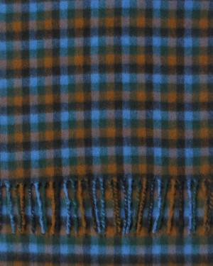Sapphire Crocket Black Shepherd Check Cashmere Scarf