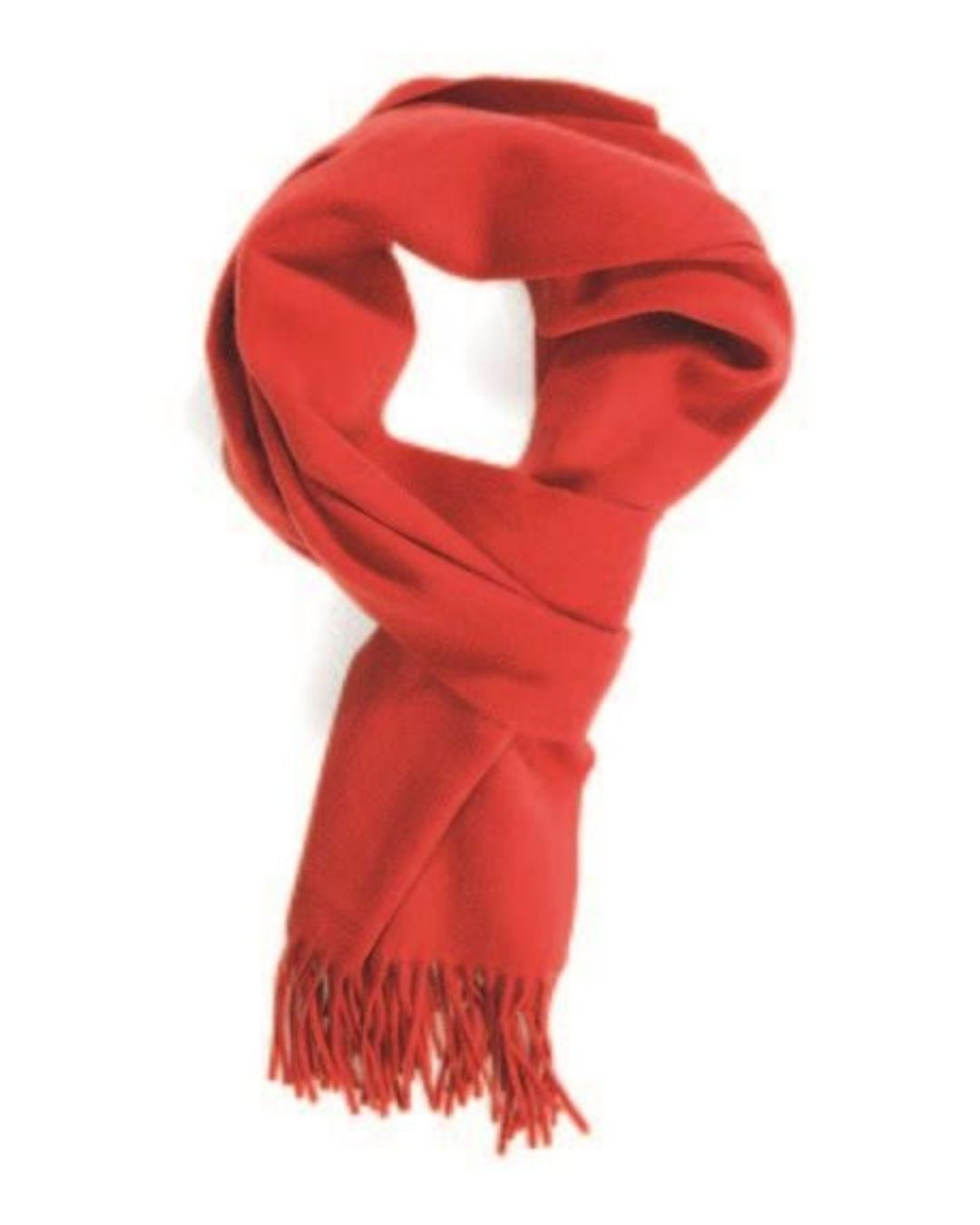 Alert Red Classic Cashmere Scarf