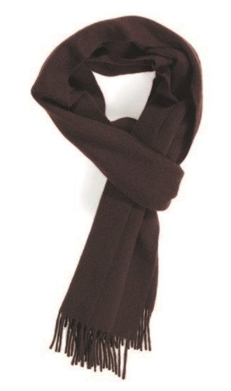 Chocolate Classic Cashmere Scarf