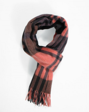 Navy Flare Heather Chocolate Primary Blackwatch Cashmere Stole