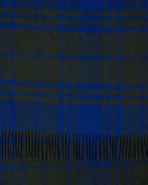 Cobalt Green, Black Mix Buffalo Check Ripple Cashmere Stole