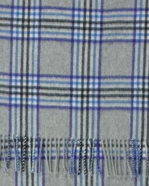 Light Grey Purple Sapphire Tweed Cashmere Stole