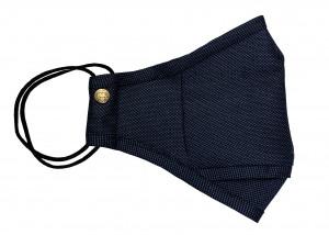 Navy Blue Birdseye Wool Mask