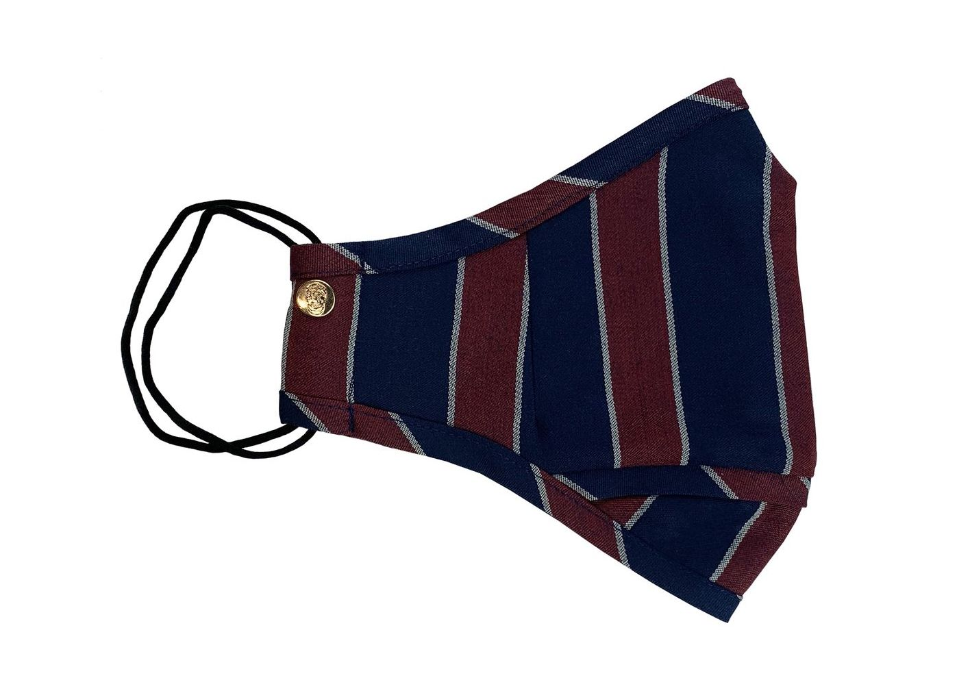 Blue, Red & Grey Boating Stripe Wool Mask
