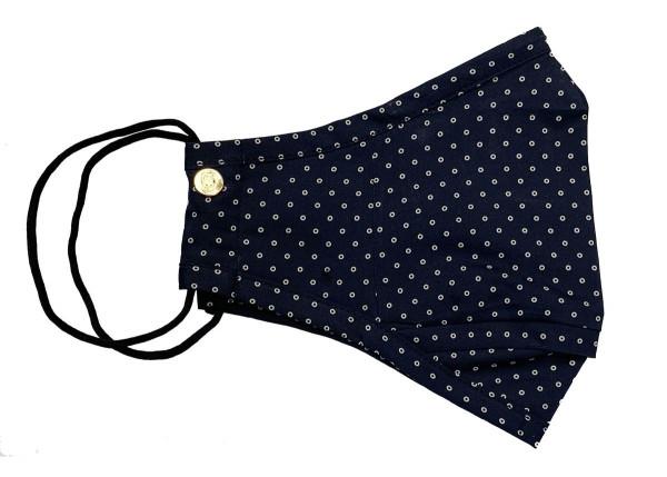 Blue Dot Cotton Mask