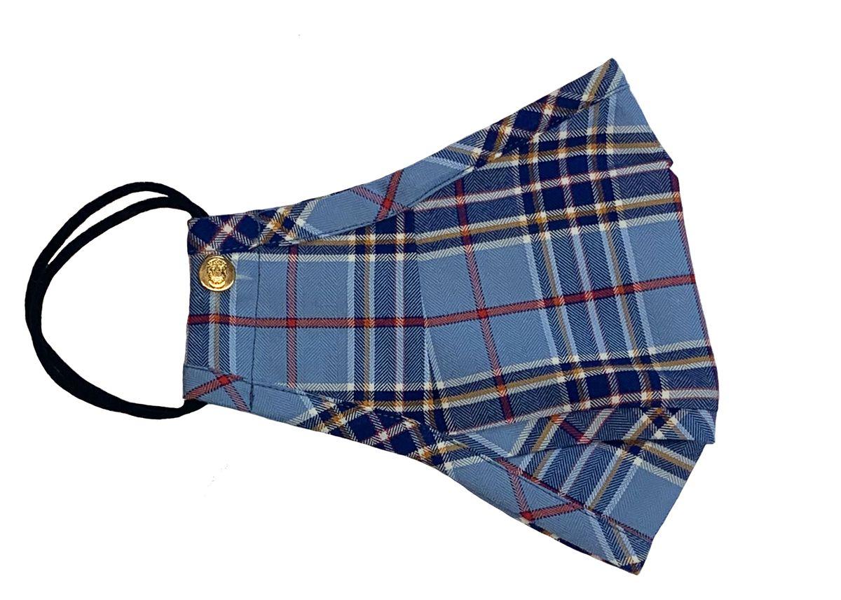 Blue Plaid Swiss Cotton Flannel Mask