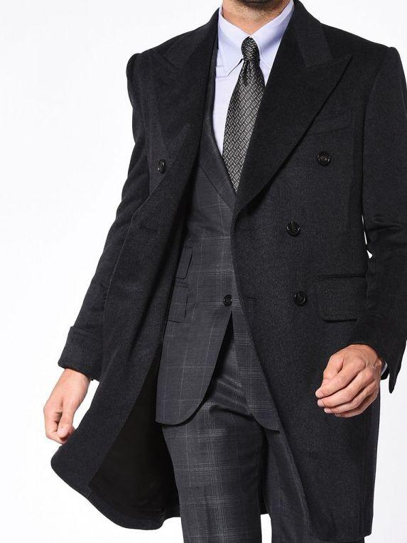 Charcoal Signature DB Bespoke Overcoat