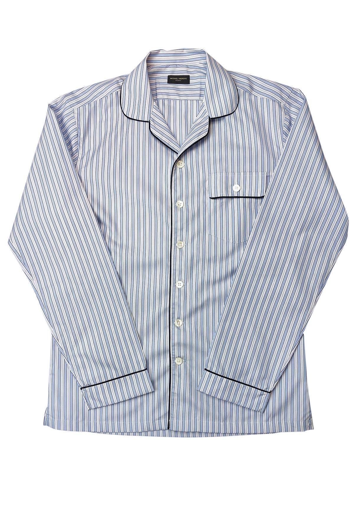 Light Blue Stripe Pajama Shirt